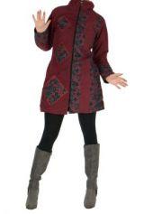 Manteau femme bordeaux Gunjan 266797