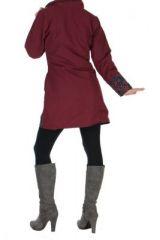 Manteau femme bordeaux Gunjan 266798