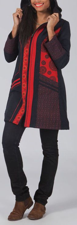 Manteau femme en toile de coton Original et Ethnique Clark 274555