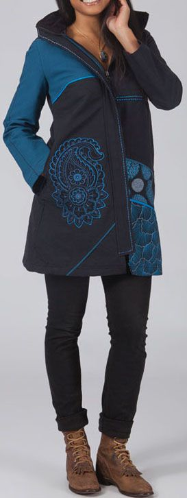 Manteau femme en toile de coton Original et Ethnique Clyde 274561