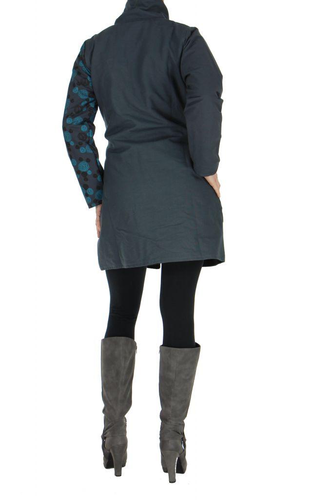 manteau femme gris color original lily. Black Bedroom Furniture Sets. Home Design Ideas