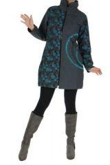 Manteau femme gris color� original Lily 266822
