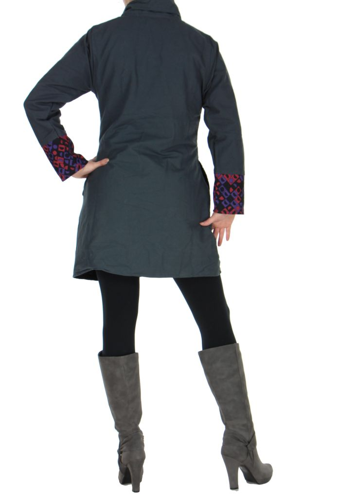 Manteau femme gris Gunjan 266794