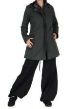 Manteau femme long gris migim 266372