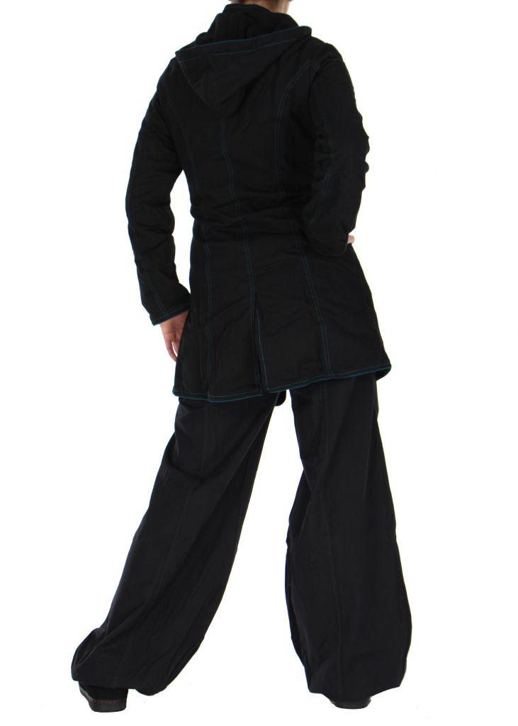 Manteau femme long noir migim 266375