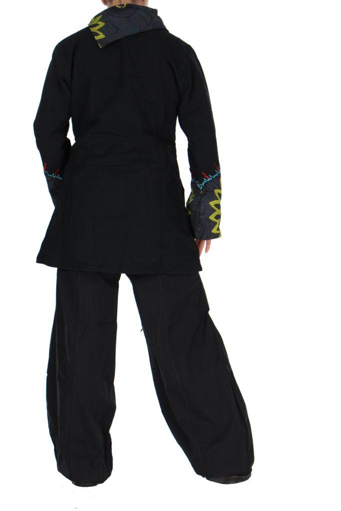 Manteau femme original noir et gris missy 266410
