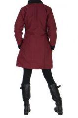 Manteau femme zippé bordeaux Balina 266621