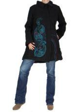 Manteau long noir ethnique lagano 265251