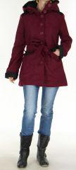 Manteau mi-long à capuche Original et Coloré Chanty Violine 277676