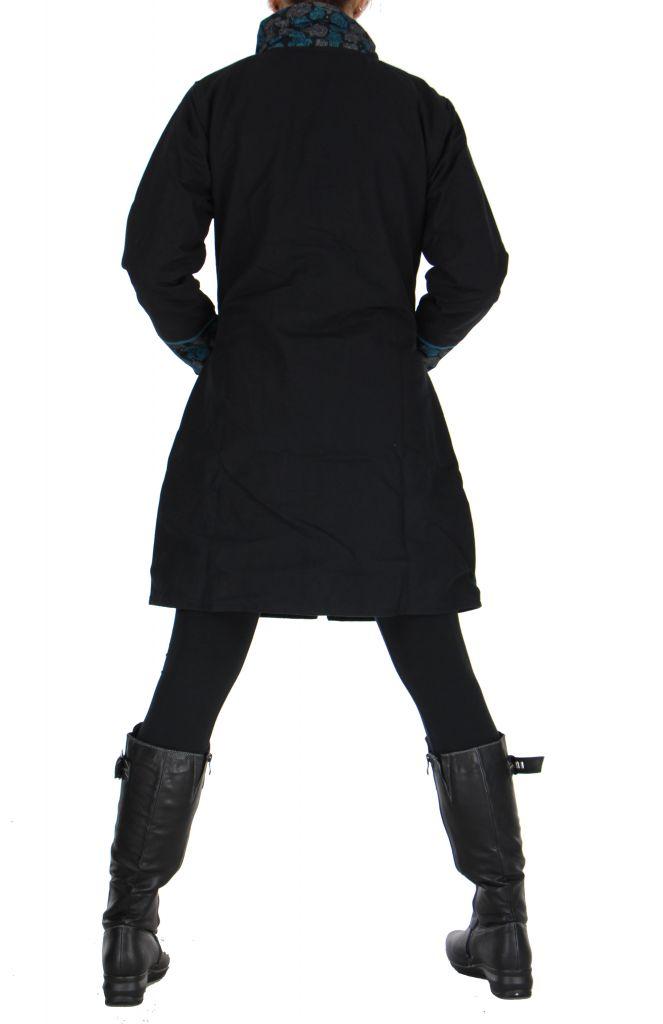 Manteau noir femme original Khamsa 266534