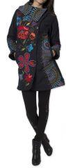 Manteau Original et Coloré pour femme double Polaire Orenok Noir 276272