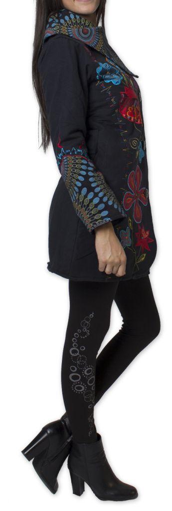Manteau Original et Coloré pour femme double Polaire Orenok Noir 276273