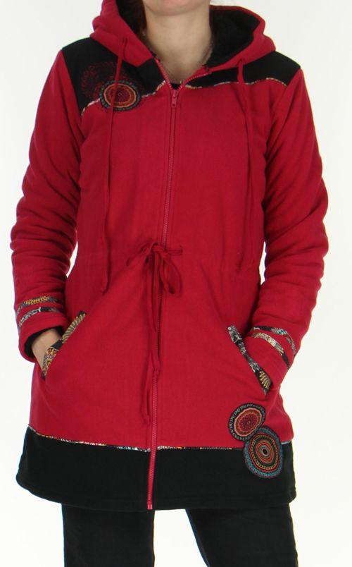 manteau polaire pour femme ethnique et original shahyn fushia. Black Bedroom Furniture Sets. Home Design Ideas