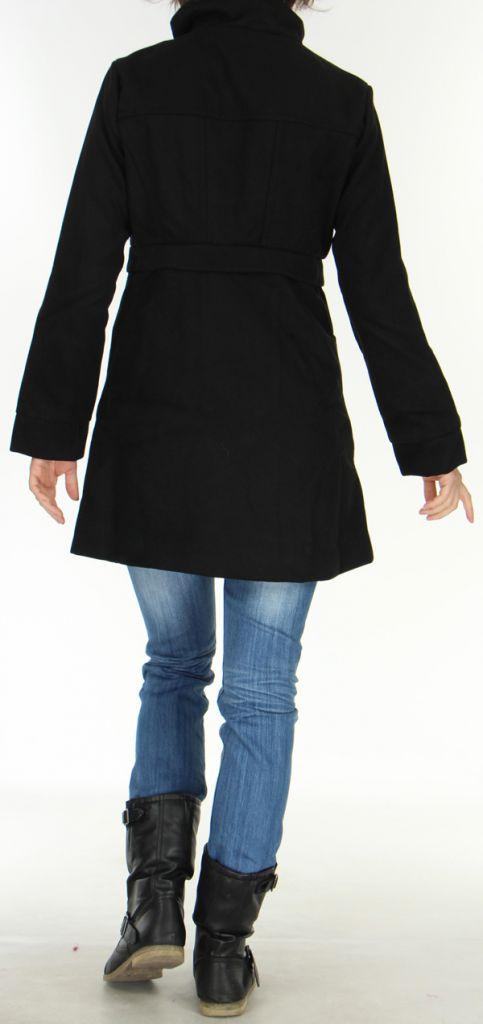 Manteau pour Femme brodé Coloré et Original Antarc Noir 277662