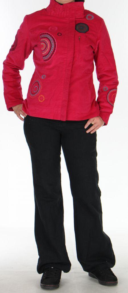 Manteau pour femme court Ethnique et Original Samael Fushia 276164
