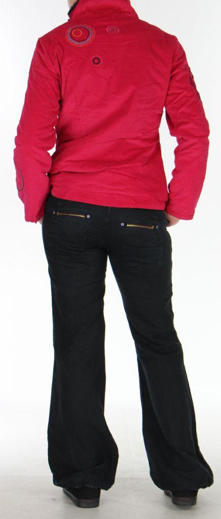 Manteau pour femme court Ethnique et Original Samael Fushia 276165