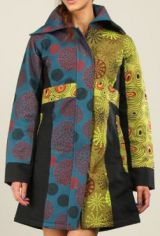 Manteau pour Femme doubl� en Polaire  Ethnique et Color� Sasha 276527