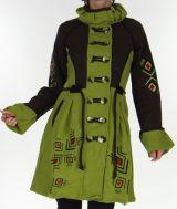 Manteau pour Femme en Laine Ethnique et Coloré Théo Anis 278165