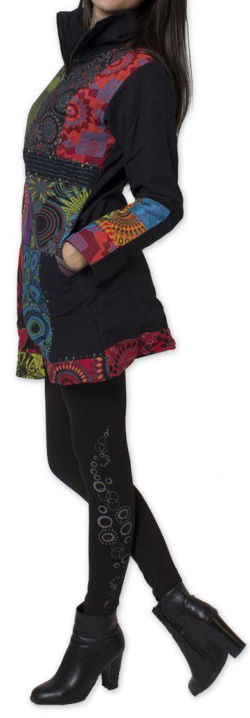 Manteau pour femme Ethnique et Coloré Amazonie Noir 276249