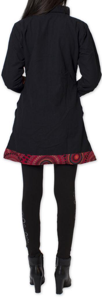Manteau pour femme Ethnique et Coloré Amazonie Noir 276250