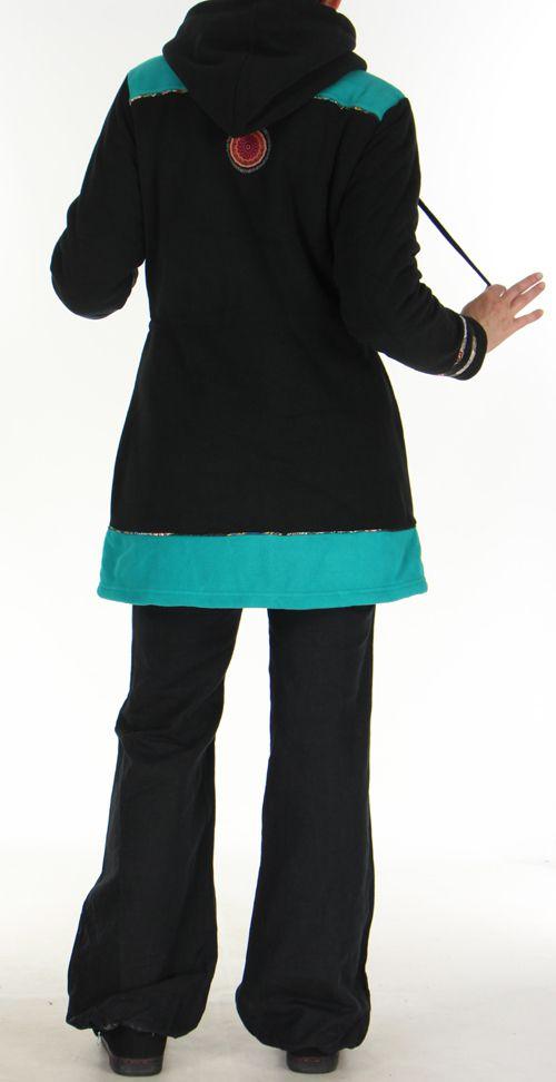 Manteau pour femme Polaire Ethnique et Original Shahyn Noir 276193