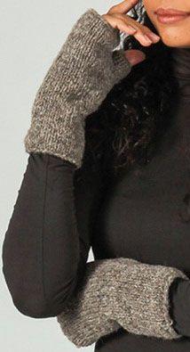 Mitaines en laine ethniques et chaudes Beige Alexandra 273203