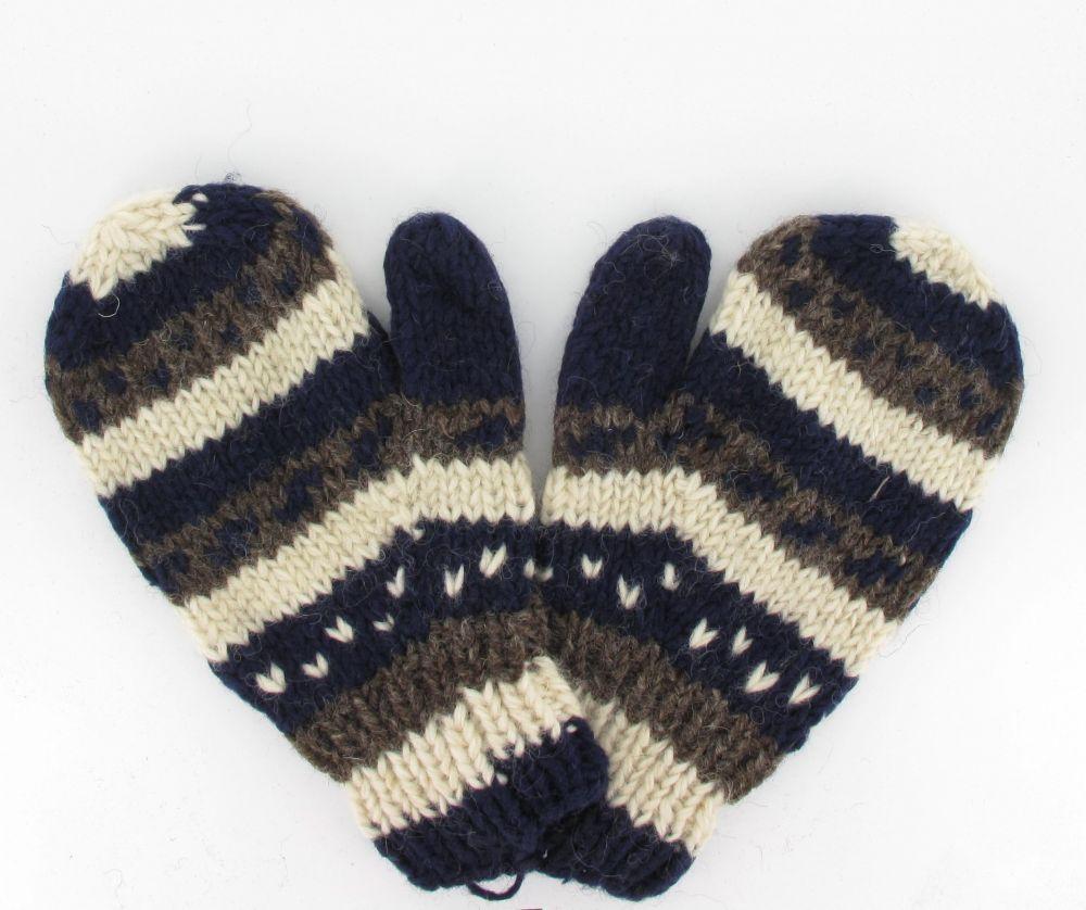 Moufle flocon en laine 243991
