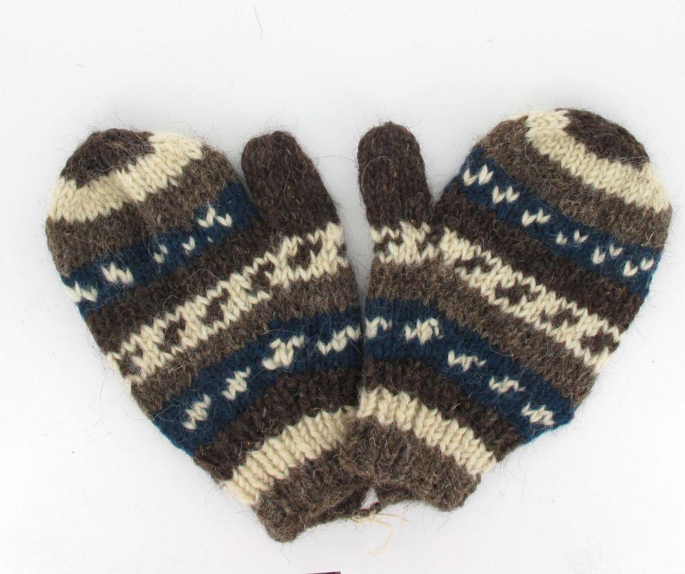 Moufle flocon en laine 244019