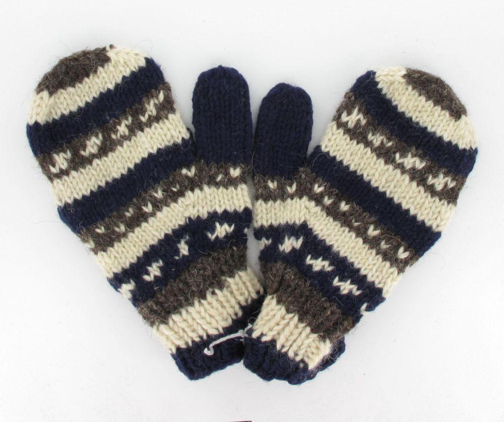 Moufle flocon en laine 244035