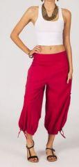 Pantacourt femme rouge effet bouffant Lana 268211