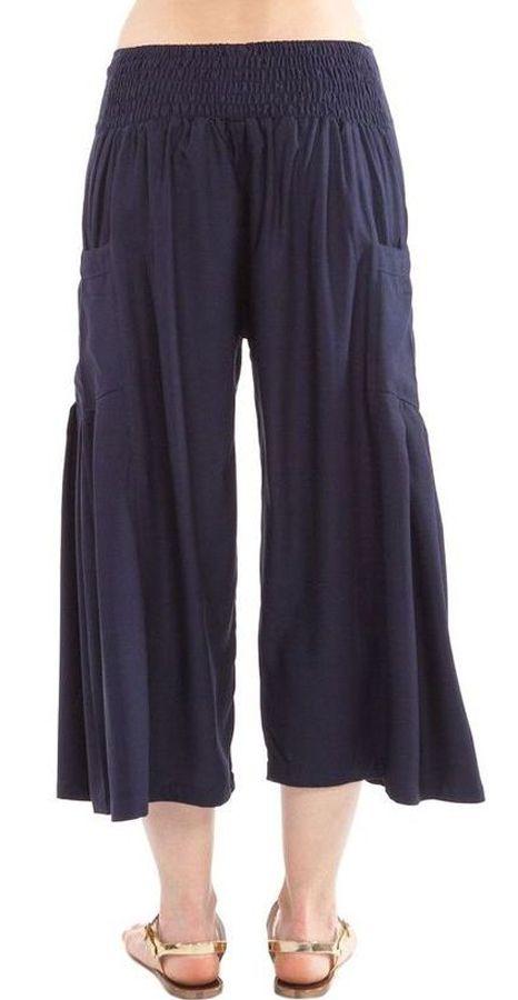 Pantacourt léger coloré agréable à porter bleu marine Horace 282938