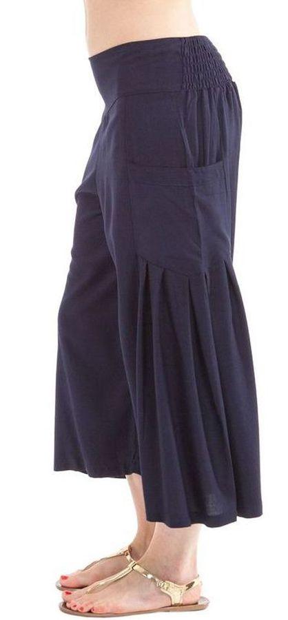 Pantacourt léger coloré agréable à porter bleu marine Horace 282939