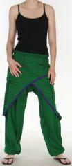 Pantalon Agréable pour femme ethnique et pas cher Vert Kadhi n7 273069