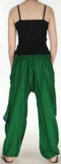 Pantalon Agréable pour femme ethnique et pas cher Vert Kadhi n7 273070