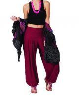 Pantalon Audric pour Femme Yoga ou Détente Bordeaux 267439