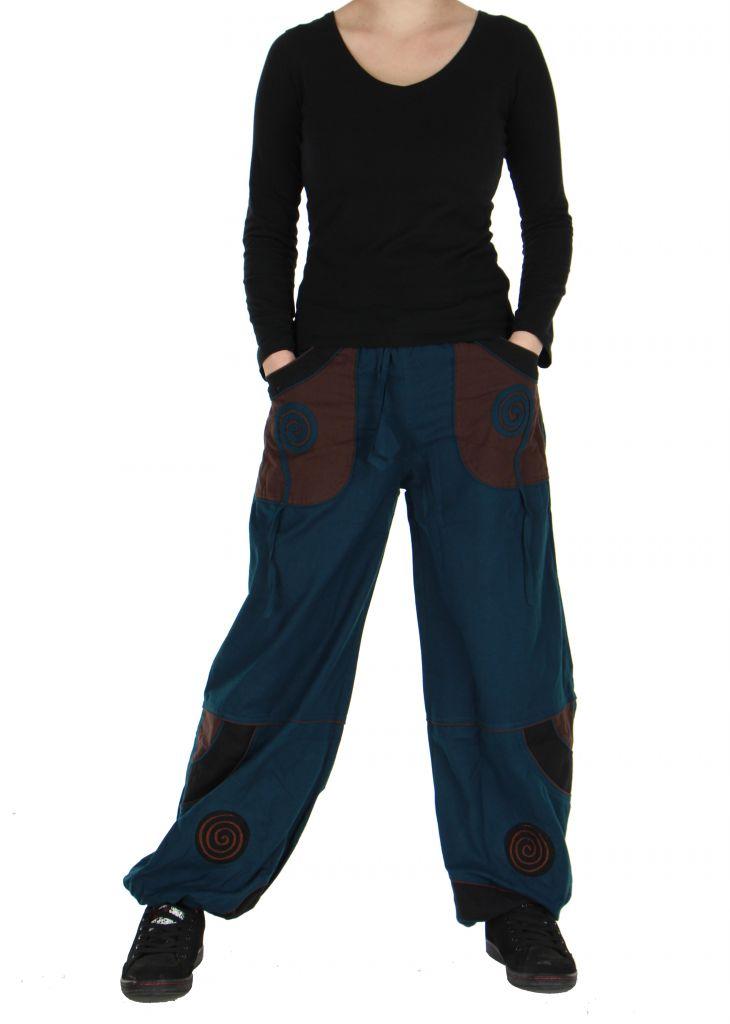 Pantalon baba cool mixte bleu Egway 266705