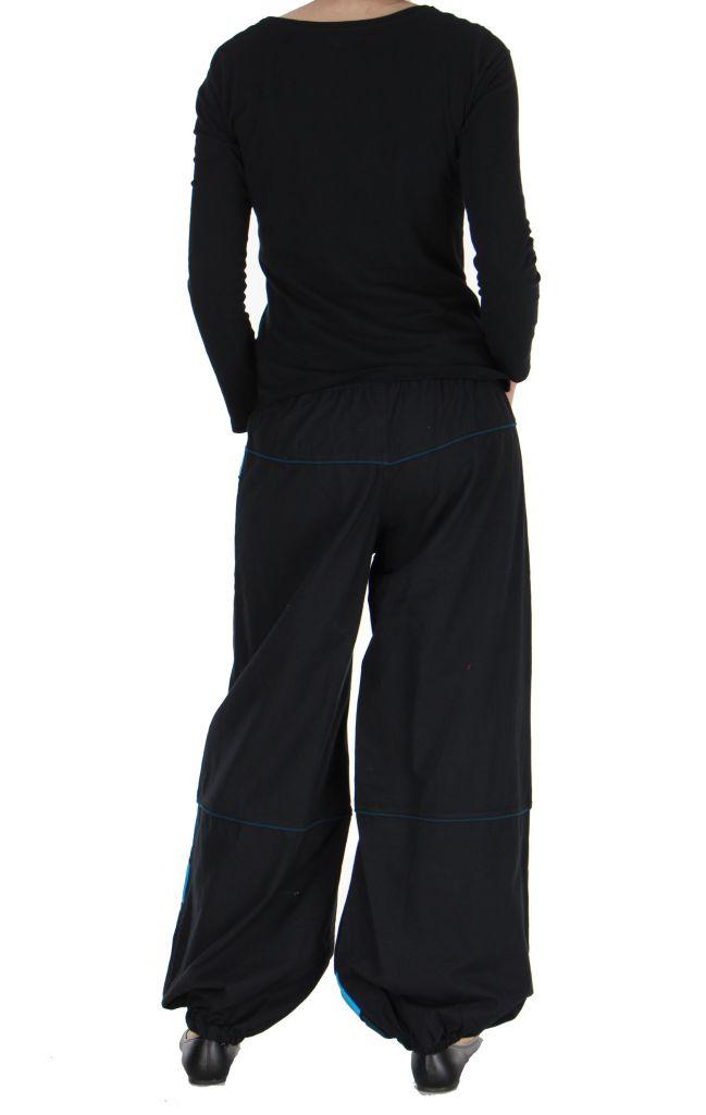 Pantalon baba cool mixte noir et bleu Egway 267577