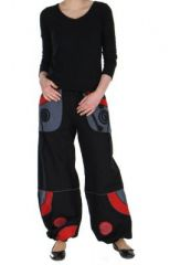 Pantalon baba cool mixte noir et gris Egway 267572