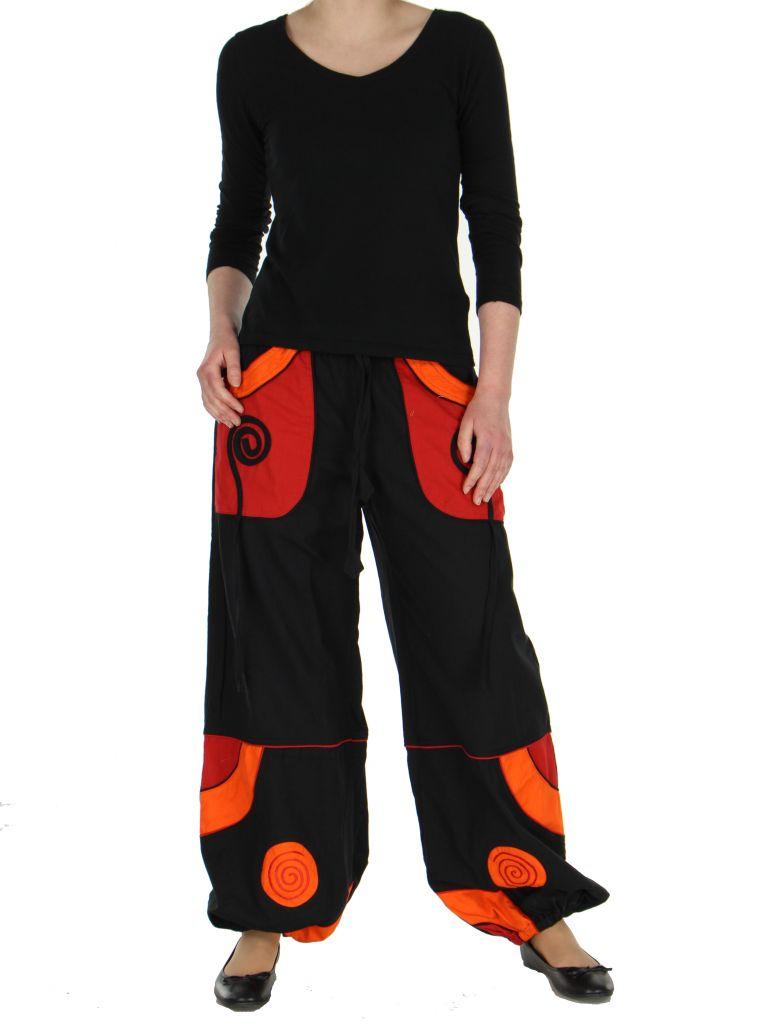 Pantalon baba cool mixte noir et rouge Egway 267584