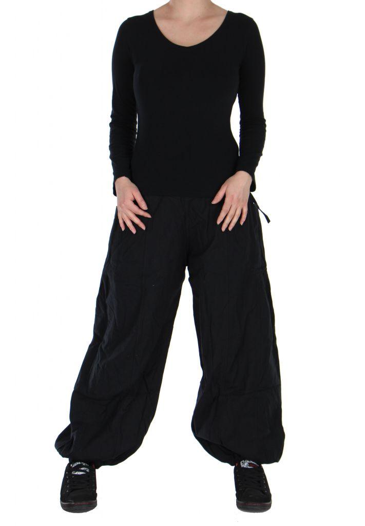 Pantalon basique ethnique Aladin noir 266650
