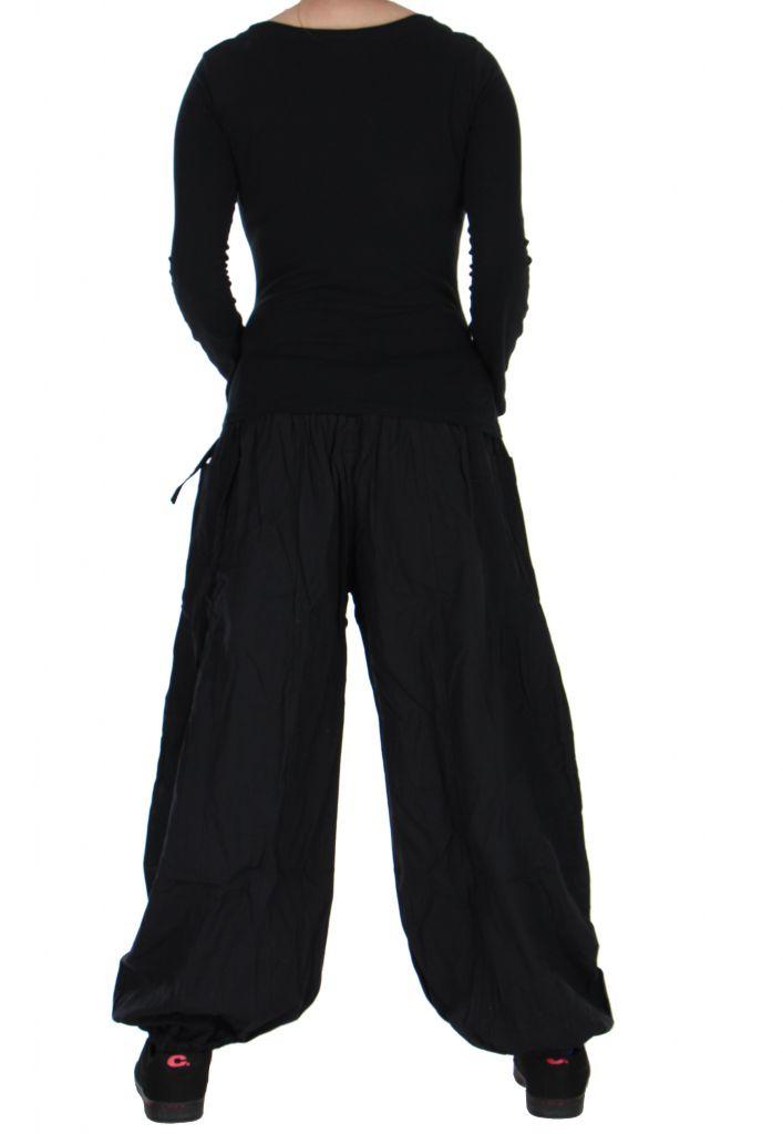 Pantalon basique ethnique Aladin noir 266651