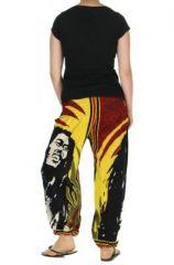 Pantalon Bob Marley smocké 264173