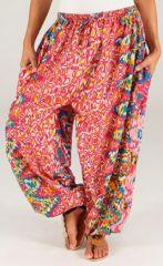 Pantalon bouffant pour Femme Ethnique et Coloré Astek 277792