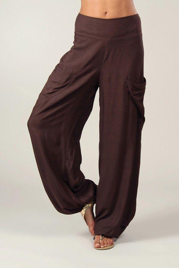 Pantalon Chocolat pour Femme Fluide et Agréable Cédric 318544