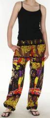 Pantalon color� et imprim� � poches fantaisie Bob Marley Reggae 1 273057
