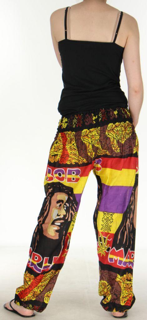 Pantalon coloré et imprimé à poches fantaisie Bob Marley Reggae 1 273058