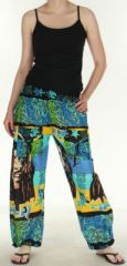 Pantalon color� et imprim� � poches fantaisie Bob Marley Reggae 2 273059
