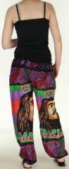 Pantalon coloré et imprimé à poches fantaisie Bob Marley Reggae 4 273064