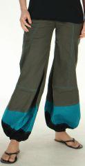 Pantalon d'été pour Femme Ethnique et Bouffant Babila Gris 278074