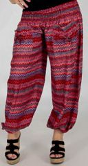 Pantalon d'�t� pour Femme Large et Confortable Balzac Rouge 277740